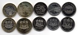 Syria - Set 5 Coins 1 2 5 10 25 Pounds 1993 - 2003 UNC Lemberg-Zp - Syrien