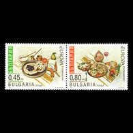 (!)  Timbre EUROPA CEPT De 2005  Thème La Gastronomie  BULGARIE  Y&T 4057/4058 Neuf(s) ** Mnh - 2005