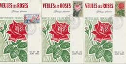 France 1963 Flore Et Philatélie Veules Les Roses (76) - Marcofilia (sobres)