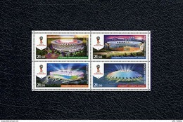 Russia, 2016, Football World Cup 2018, Stadiums-2, 4 Stamps - Unused Stamps