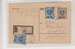 AUSTRIA, WIEN Registered Postal  Stationery - 1918-1945 1ère République