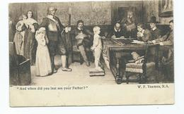 Fine Art Postcard When Did You Last See Your Father ? By W.f.yeames R.a.  Posted 1908 Eyre And Spotswood - Pittura & Quadri