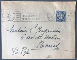 France N°532 Sur Lettre De Paris Pour Biarritz 1942 - (W1264) - Marcophilie (Lettres)