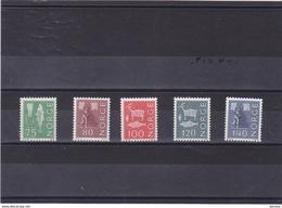 NORVEGE 1972-1973 Série Courante  Yvert 589-593 NEUF** MNH - Norwegen