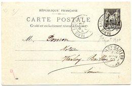 PARIS 1900  = CACHET TEMPORAIRE ' EXPOSITION RAPP ' + ENTIER POSTAL TSC TYPE SAGE - Cartes Postales Types Et TSC (avant 1995)
