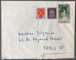 France Lettre De Bourgueil (Indre Et Loire) 1954 - (W1272) - Marcophilie (Lettres)