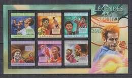 V380. Guinee - MNH - 2011 - Sport - Legends Of Sport - Tennis - Timbres
