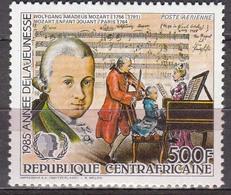 Central African Republic  1985 W.A.Mozart  Michel 1181a  MNH 27442 - Musique