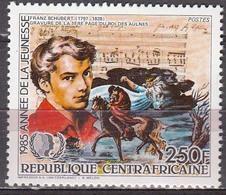 Central African Republic  1985 Franz Schubert  Michel 1185a  MNH 27444 - Musique
