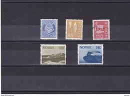 NORVEGE 1974  Série Courante Yvert  632-636 NEUF** MNH - Norwegen