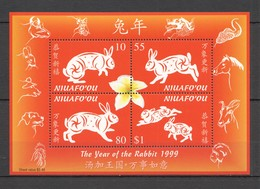 D1399 1999 NIUAFO'OU FAUNA ANIMALS LUNAR CALENDAR YEAR OF THE RABBIT BL22 1KB MNH - Anno Nuovo Cinese