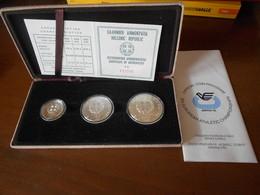 GREECE  1981    EUROPEAN  CHAMPIONSHIP     SILVER  COINS  SET  - UNC  BOXED - Grecia