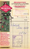 FRANCE - 1960 - Facture - Les Produits MORTIS - Destruction Des Rongeurs Et Des Insectes - France