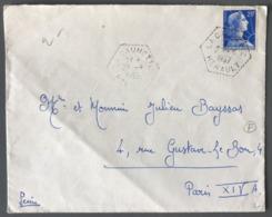 France - Lettre - TAD Recette Auxiliaire LA CAUNETTE (Hérault) - (W1289) - Poststempel (Briefe)