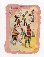 CHROMO CHOCOLAT POULAIN   MARMITONS  - COQS ET POULES . OEUFS - - Poulain