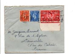 GB AFFRANCHISSEMENT COMPOSE SUR LETTRE DE ROMFORD POUR LA FRANCE 1958 - 1952-.... (Elizabeth II)