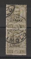 Libye 1912-17 Victor Emmanuel III 9 Paire Verticale Oblit. Used - Libye