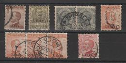 Libye 1912-22 Victor Emmanuel III Lot De Timbres Oblit. Used - Libye