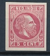 Nederlands Indië - 1868 - 5 Cent Willem III, Proef 11g - Karmijn - Niederländisch-Indien