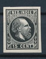 Nederlands Indië - 1868 - 15 Cent Willem III, Proef 13a - Zwart - Niederländisch-Indien