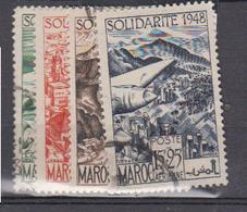 MAROC      1949           PA        N °   70 / 73           COTE        8 € 00        ( 1684 ) - Maroc (1891-1956)