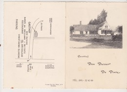 Menu Vast - Belgique Restaurant  GASTHOF Den Duiver DE PINTE Baron De Gieylaan -Christiaens Elskens - Menus