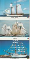 Lot De 6 Cartes Différentes Voiliers Armada Rouen - Voiliers