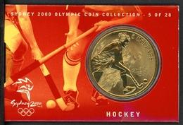 """Australien 2000 5 Dollars """"Hockey"""" Auf Coincard ST (MZ119 - Munten"""