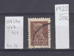 20K1922 / 1925 - Michel Nr. 277 I A ,Wz. 7 Perf. 12 Used ( O ) 7 K. Rotarmist Freimarken Soviet Union Russia - 1923-1991 URSS