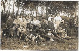 Superbe Carte Photo - Thème Chasse -Souvenir De L'ouverture En Septembre 1920 . (Quel Casse-croûte Et Bonnes Bouteilles) - Jagd