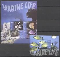 G402 NEVIS FISH & MARINE LIFE #1935-8 !!! MICHEL 13 EURO !!! 1BL+1KB MNH - Vie Marine