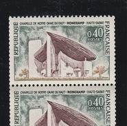 R 63 40c RONCHAMP - ROULETTE De 11 - 2 Timbres Avec N° ROUGES - Coil Stamps