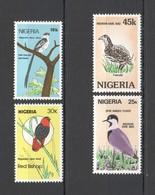 G404 1984 NIGERIA FAUNA BIRDS #446-49 MICHEL 10 EURO 1SET MNH - Oiseaux