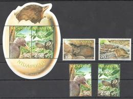 G406 2002 NIUAFO'OU BIRDS ENDANGERED MALAU MICHEL 12,8 EURO 1BL+1SET MNH - Oiseaux