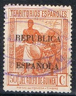 Sello 50 Cts Sobrecarga Republica, GUINEA Española 1932, Num 239 º - Guinea Española