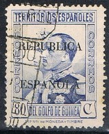 Sello 80 Cts Sobrecarga Republica, GUINEA Española 1932, Num 240 º - Guinea Española