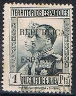 Sello 1 Pta Sobrecarga Republica, GUINEA Española 1932, Num 241 º - Guinea Española