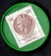 CARENZA MONETE - 1977 - DISCO DI PLASTICA CON 100 £  - ASCOM BIELLA - 6. 1946-.. Repubblica