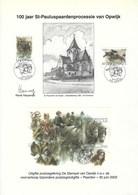 E30 - Belgium - 2002 - First Day Sheet - 3084/85 BL95 - Sint-Pauluspaardenprocessie Opwijk / Horses / Animals - A4 Page - Erinnerungskarten