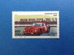 1998 ITALIA FRANCOBOLLO NUOVO ITALY STAMP NEW MNH** AUTO FERRARI GTO 1963 - 6. 1946-.. Repubblica