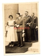 Photo  Paul Creuly Maurice Ventre Militaire Uniforme Mariage Robe Femme Homme 11,5x9 Cm - Identified Persons