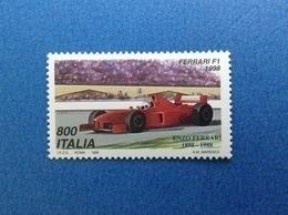 1998 ITALIA FRANCOBOLLO NUOVO ITALY STAMP NEW MNH** AUTO FERRARI F1 1998 - 6. 1946-.. Repubblica