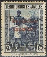 Sello Habilitado 30 Cts Sobre 40 Cts, GUINEA Española 1937,  Num 253 * - Guinea Española