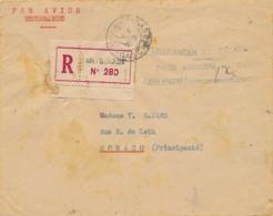 """1946 Griffe """" POSTE AERIENNE ANTSIRABE TAXE PERÇUE  """" > MONACO Sur LETTRE AVION RECOMMANDÉE AFFRT FORTUNE - Madagascar (1889-1960)"""