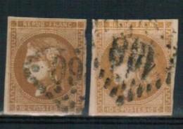 Lot Classiques N°43A - 2 Timbres - 1870 Emisión De Bordeaux