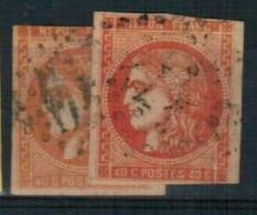 Lot Classiques N°48 - 2 Timbres - 1870 Emisión De Bordeaux