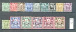 Zanzibar 1904  Coat Of Arms MLH Complete Set - Zanzibar (...-1963)