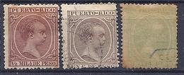 200034885  PUERTO RICO  EDIFIL  Nº 102/106/110  USED/MH - Puerto Rico
