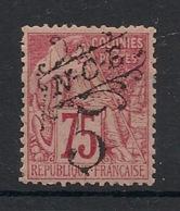 Nouvelle Calédonie - 1892 - N°Yv. 37 - 5c Sur 75c Surcharge Noire - Neuf * / MH VF - Neukaledonien