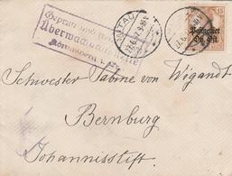 Occupation Allemande En Lettonie Lettre Censurée Mitau 1917 - Occupation 1914-18